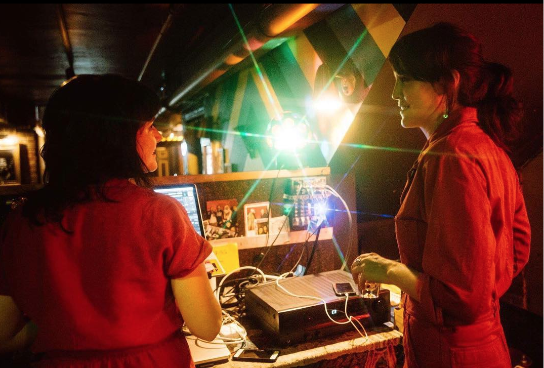 Abbie and I at our Interpol DJ night back in August. Photo by Eric Tra