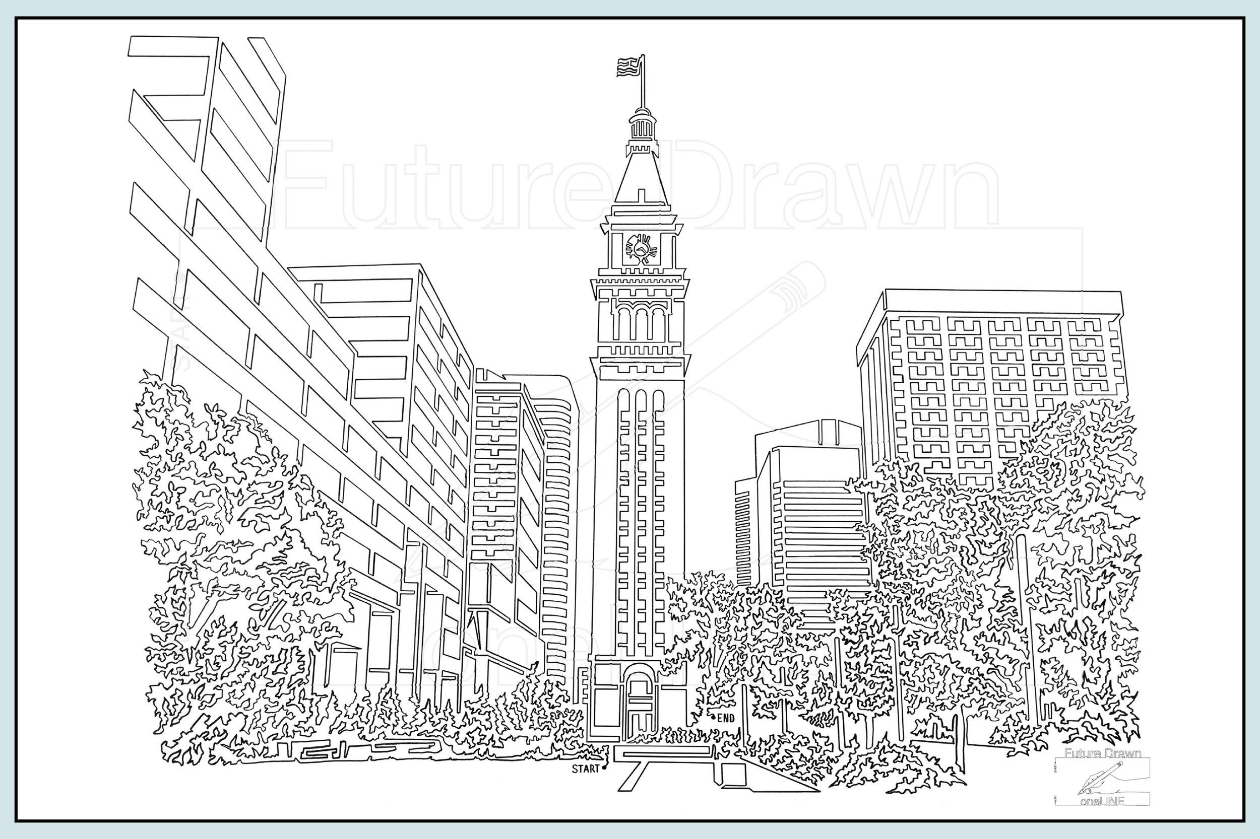 Web-Gallery Item- Denver  Clock Tower- oneLINE Future Drawn Applegate.jpg