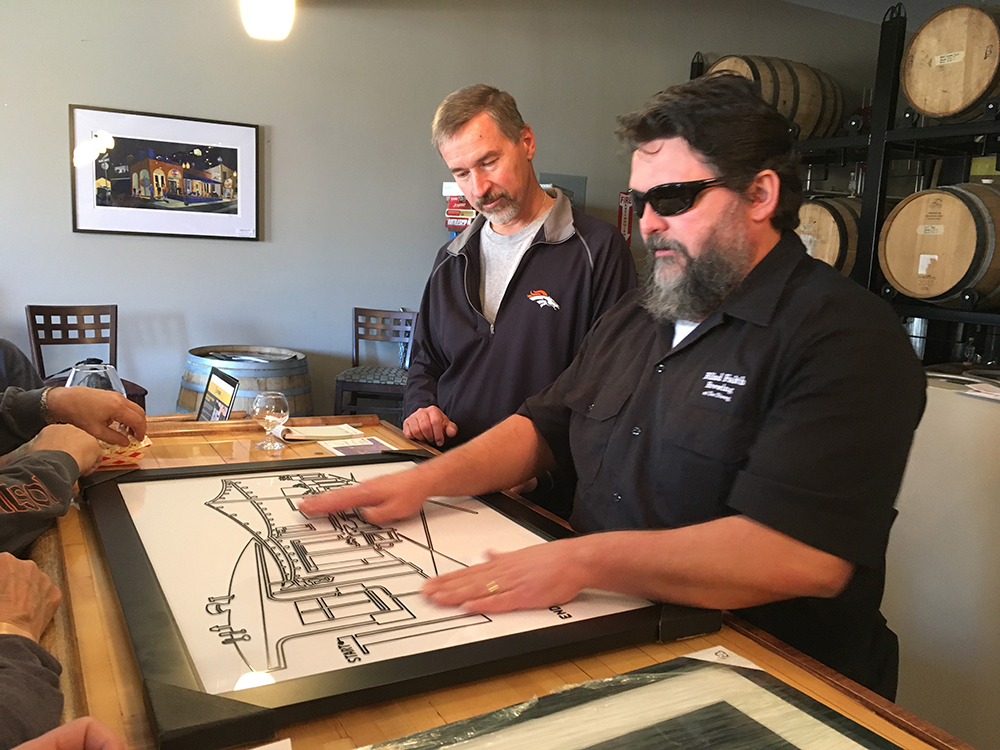 oneLINE Art for the Blind - A real estate closing gift turns into a new way to experience the oneLINE. After learning that one of the new owner's of de Steeg Brewing was blind was had to create a oneLINE experience for him too.