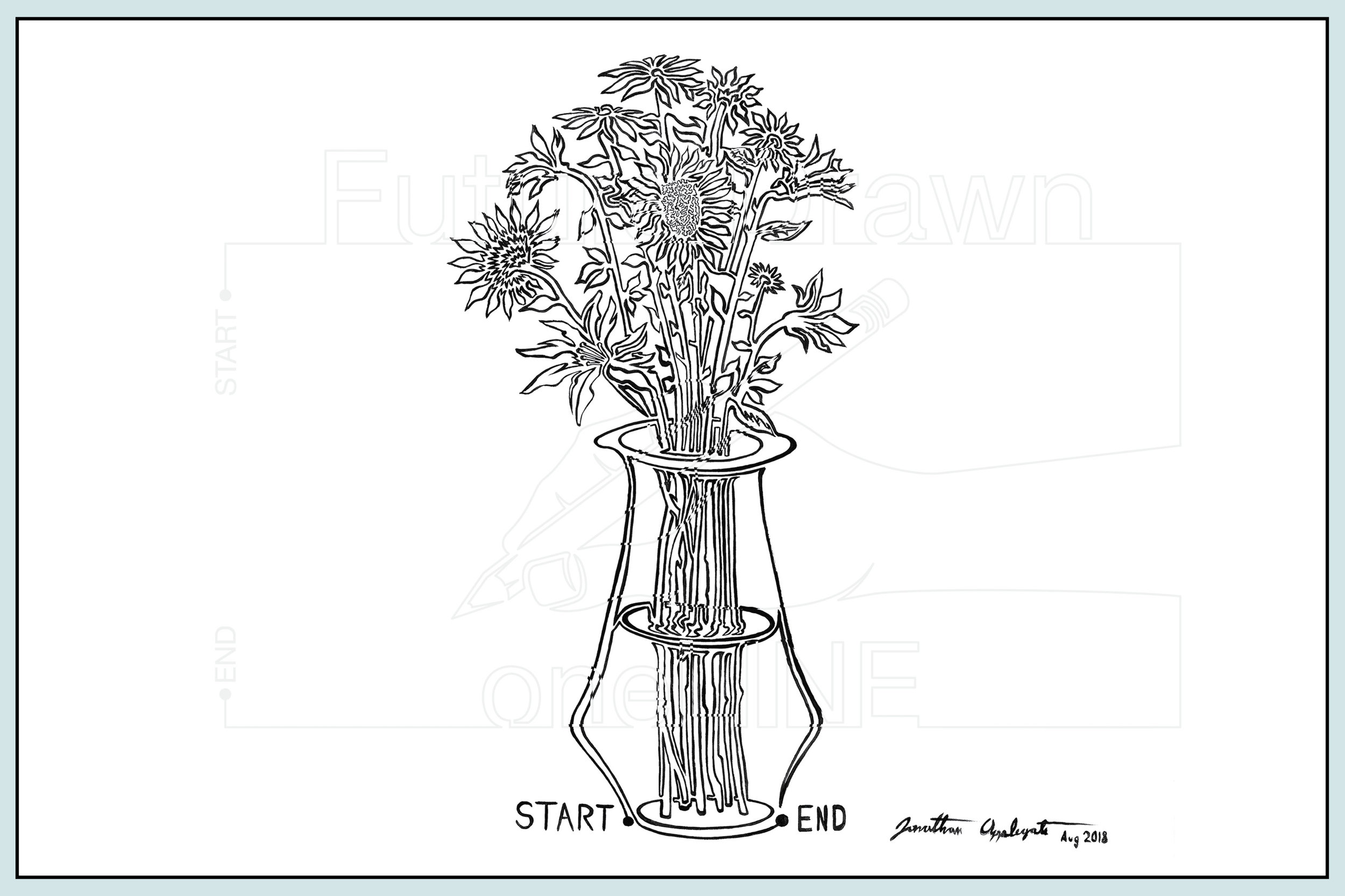 Web- Vase of Flowers #2 Acrylic on Canvas- oneLINE Future Drawn Applegate.jpg