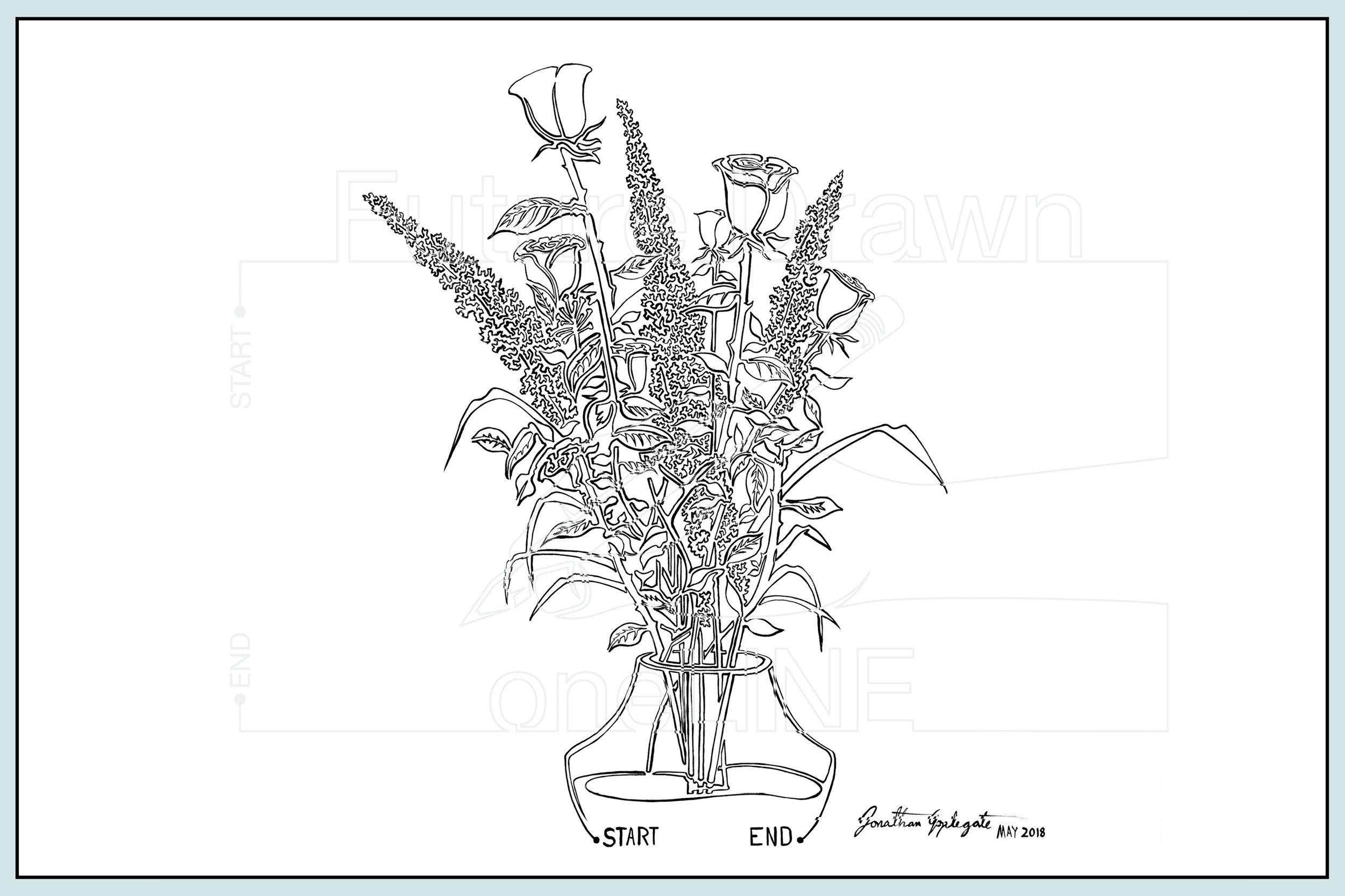 Web- Vase of Flowers #1 Acrylic on Canvas- oneLINE Future Drawn Applegate.jpg