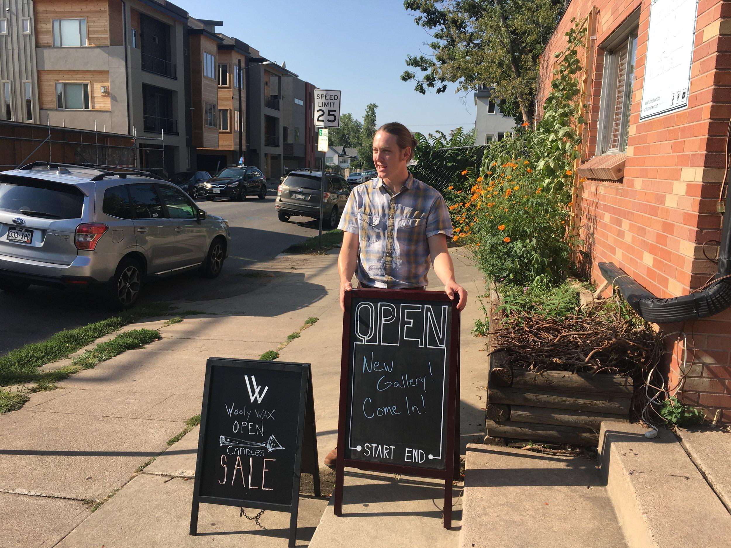 Jonathan Applegate Future Drawn opening shop.JPG