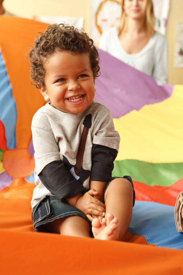"""Bring your toddler (walking to 30 months) to this series and learn ways to enhance your toddlers' social, emotional and physical development through singing, movement exploration, and touch in this research-based program. We will be talking about motor and brain development. Come prepared to move with your toddler and have lots of fun!  """"I think Bonnie is great at what she does, and every young child should do this class!  — Cordy Ford-Jaden's Grandma  """"I really liked the class, it was very informative and relaxed.""""  """"I loved the theory behind the activities.""""  """"It's a great place to connect with other moms.""""  """"Fantastic, loved every class!""""  """"I enjoyed the variety of activities in each class and use of different props.""""  """"I really liked Bonnie -her kindness and energy."""""""