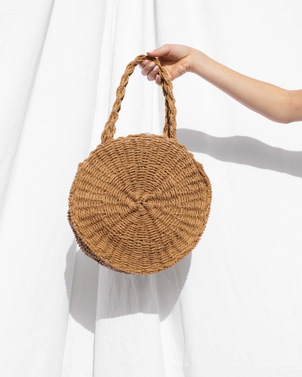 MELROSE ROUNDIE STRAW BAG
