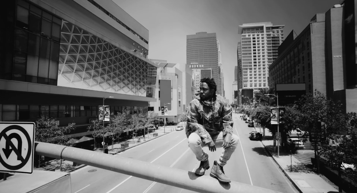 "The music video for the Kendrick Lamar single ""Alright""."