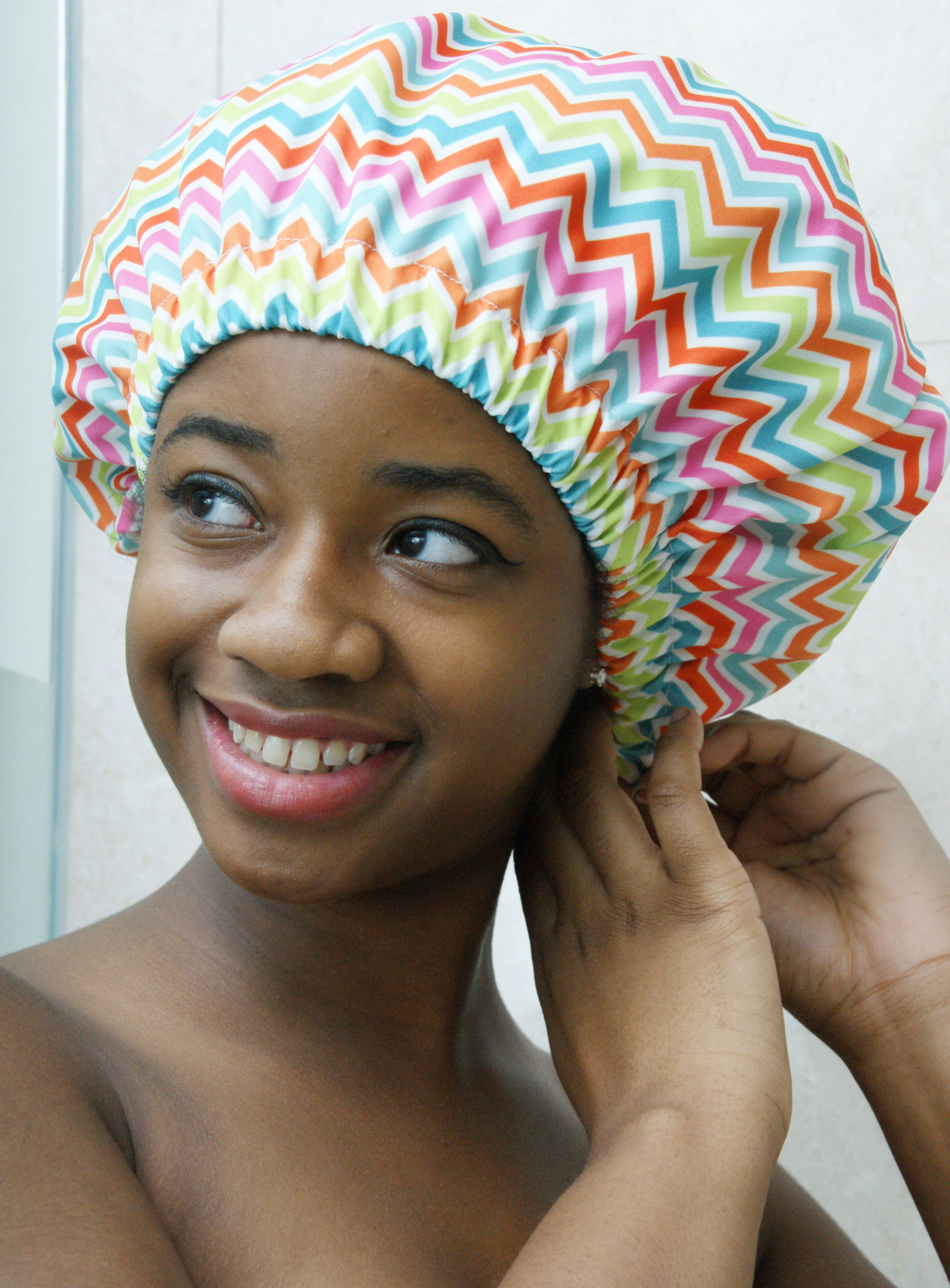 I love how cute this cap is! The picture really doesn't do it justice. I change my style monthly and I appreciate how it can protect my faux locs and my silk press. This is a great investment for anyone that pays good money for their hair!! - Amazon Customer