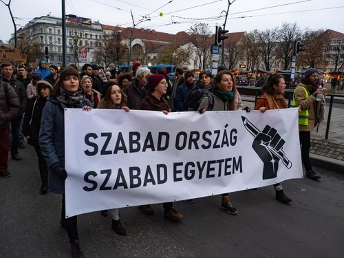 "These Hungarian Students Are Fighting for Their Country's Democracy - January 19, 2019""Though Orbán sought to stamp out dissent and free thought in Hungary, he only made us call out to one another in solidarity.""Read more at THE NATION."