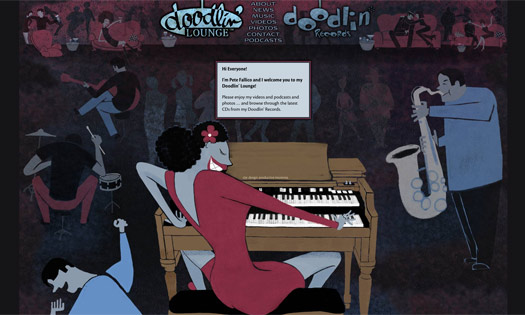 DOODLIN' LOUNGE / RECORDS  ( ILLUSTRATIONS, SITE DESIGN)