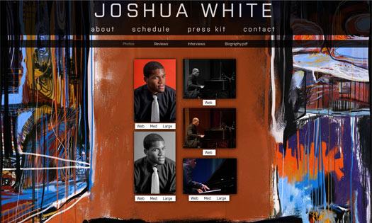 JOSHUA WHITE, MUSICIAN  (BACKGROUND PAINTING, SITE DESIGN)