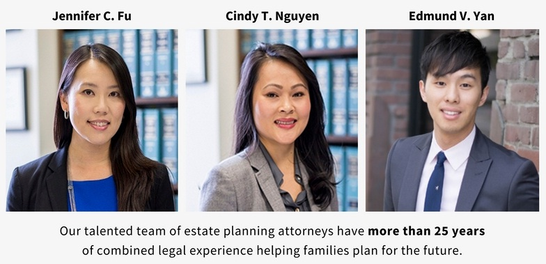 Our talented team of estate planning attorneys have    more than 25 years   of combined experience    helping families plan for the future.