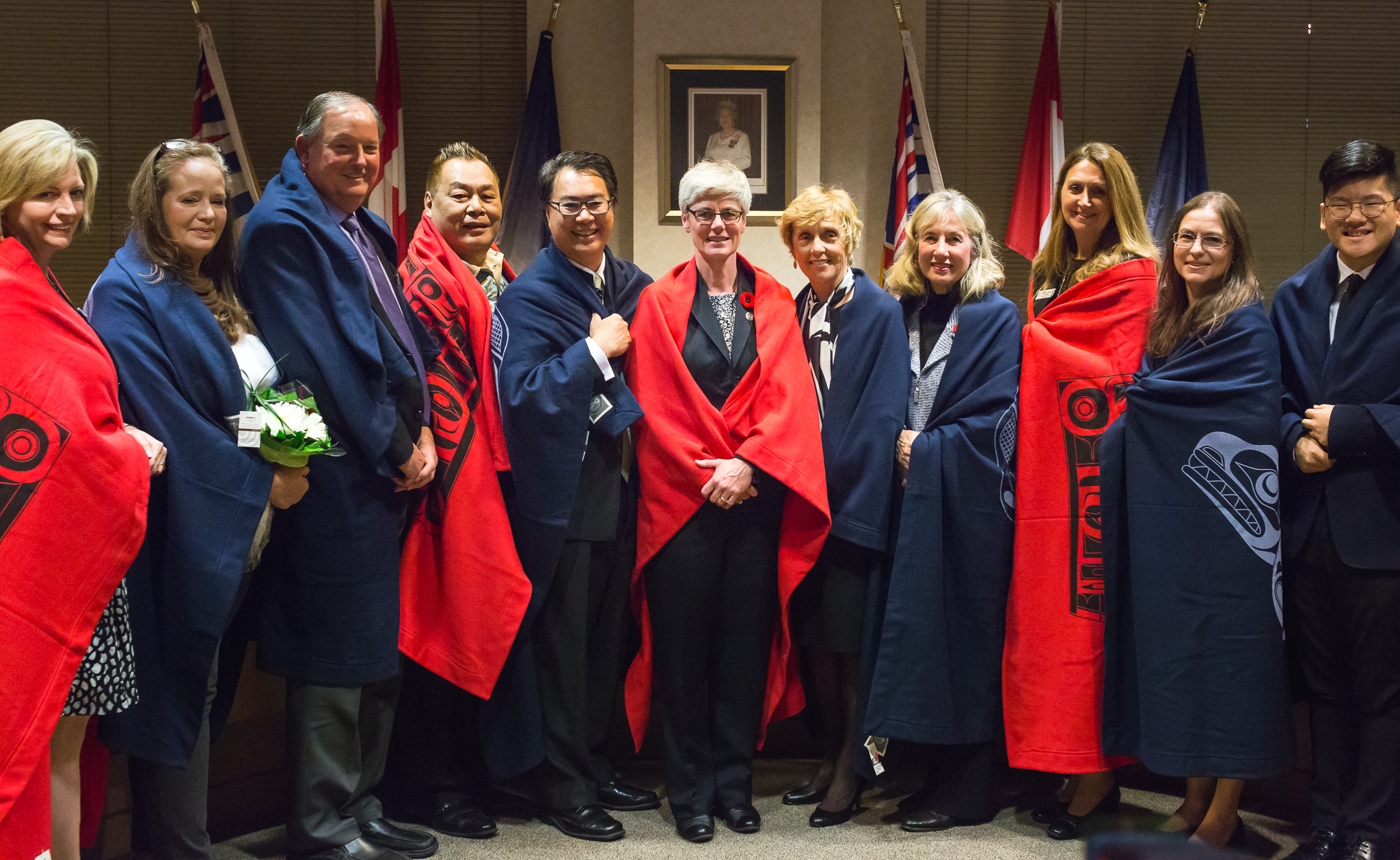VSB Board of Education (left to right in image): Dianne Turner (special advisor), Carrie Bercic, Ballantyne, Ken Clement, Allan Wong, Janet Fraser (chair), Joy Alexander, Judy Zaichkowsky, Estrellita Gonzalez, Lisa Dominato, and Eugene Jeoung (student trustee).