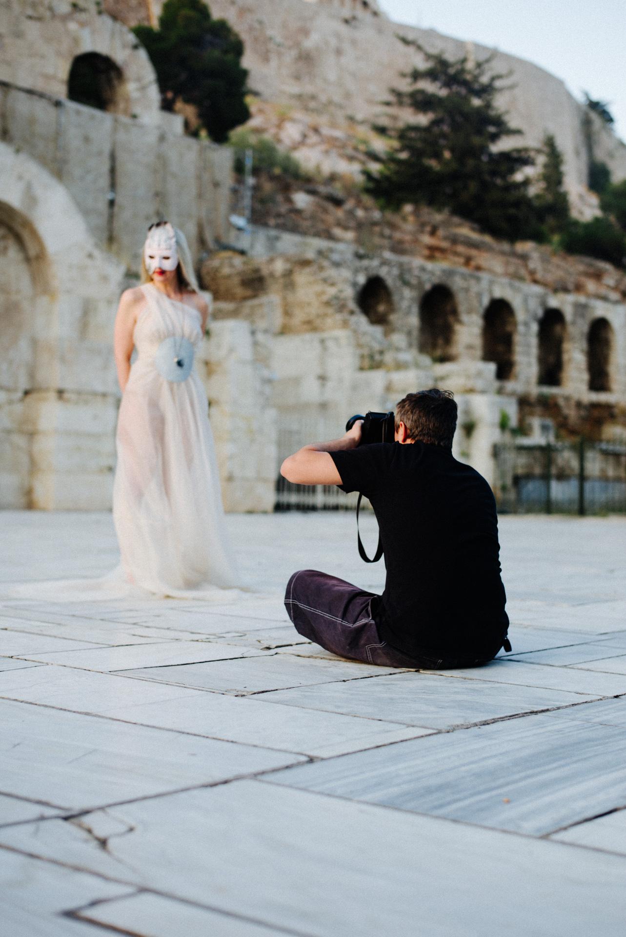 Fotoshooting vor dem Odeon des Herodes Atticus