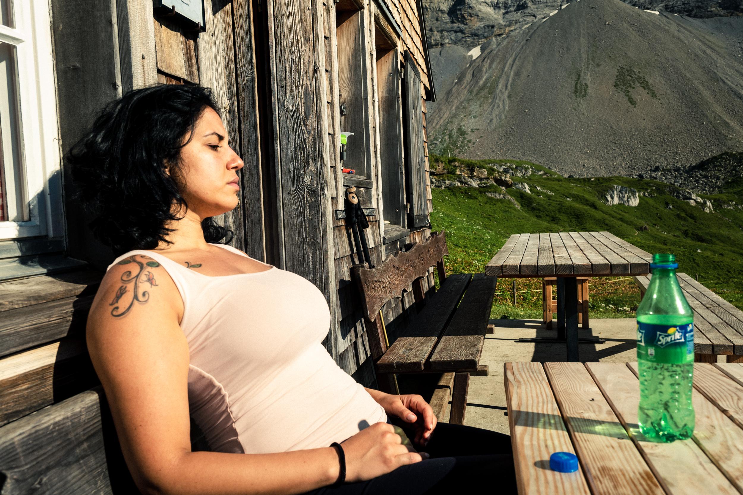 relax an drink was für eine wunderschöne Bergwelt