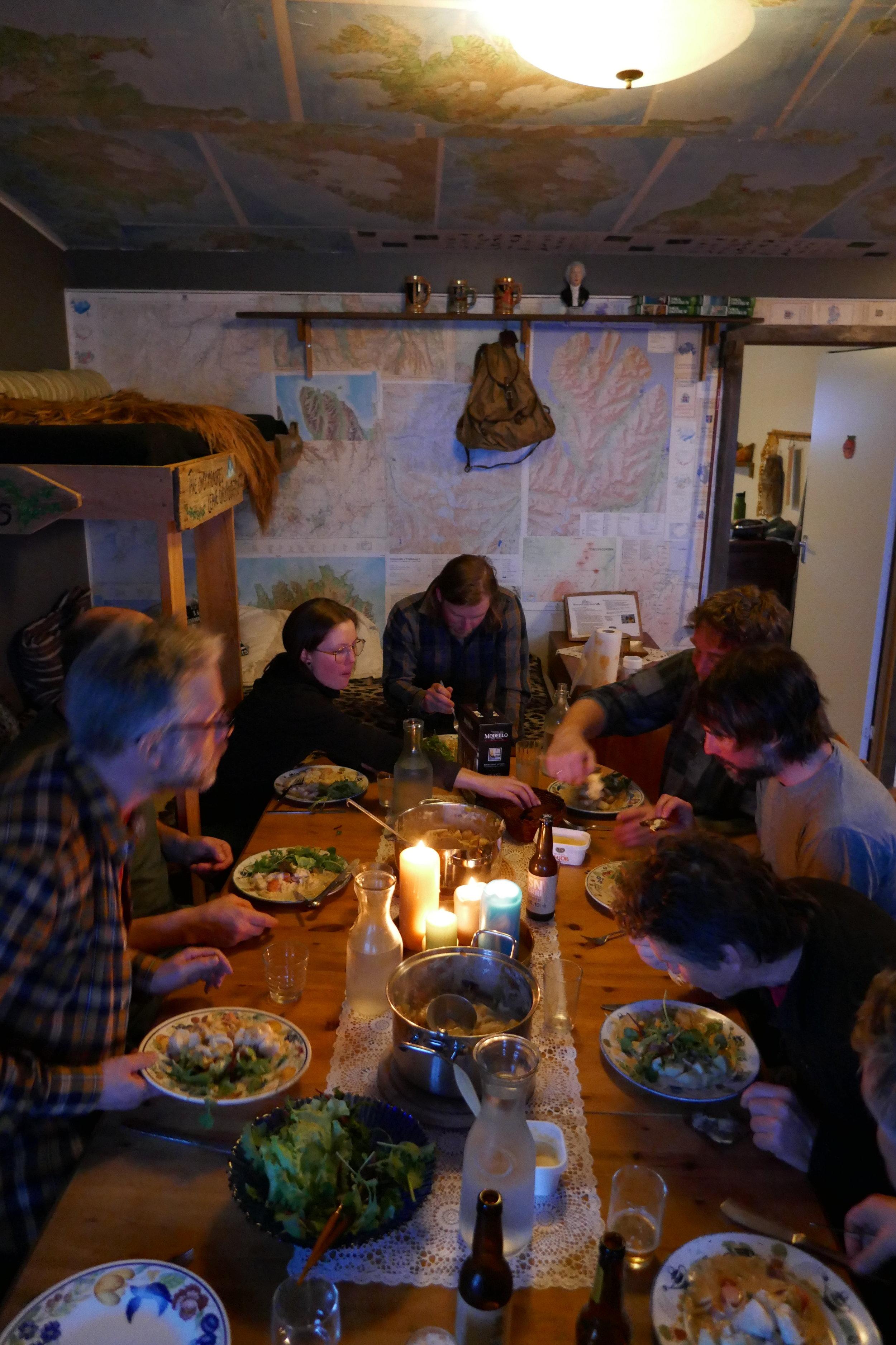 Middag av vår egen kock Arni-Thor