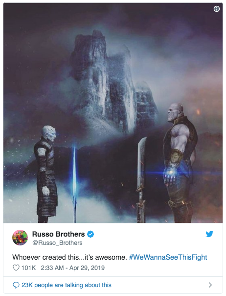 source:  https://twitter.com/Russo_Brothers