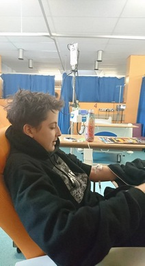 Jonah receiving his first funded Eculizumab in Southampton