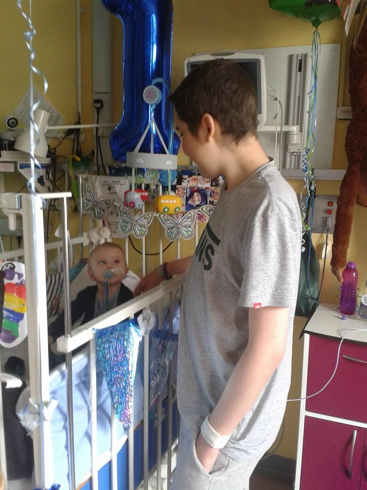 Jonah with his hospital buddy Alife who was celebrating his 1st Birthday. May 2015