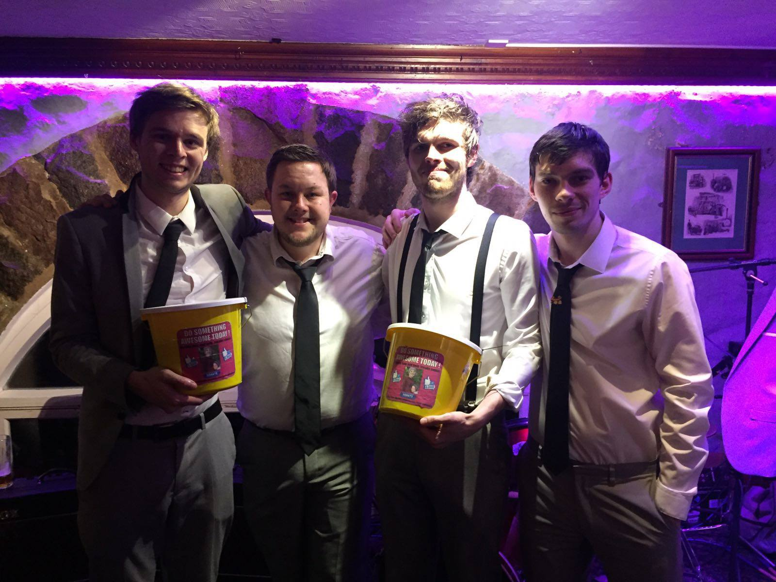 Big thanks to The Day Trippers who raised an amazing £1,103.72 for Jonah at their gig at The Thomas De La Rue. Jan 2016