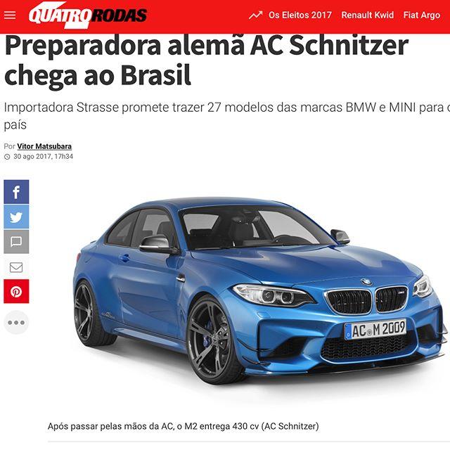 Cobertura da mídia especializado sobre o lançamento da preparadora alemã AC Schnitzer, trazida ao Brasil pela @strasse.com.br  #portfoliolpb #clippinglpb #pr #clientelpb