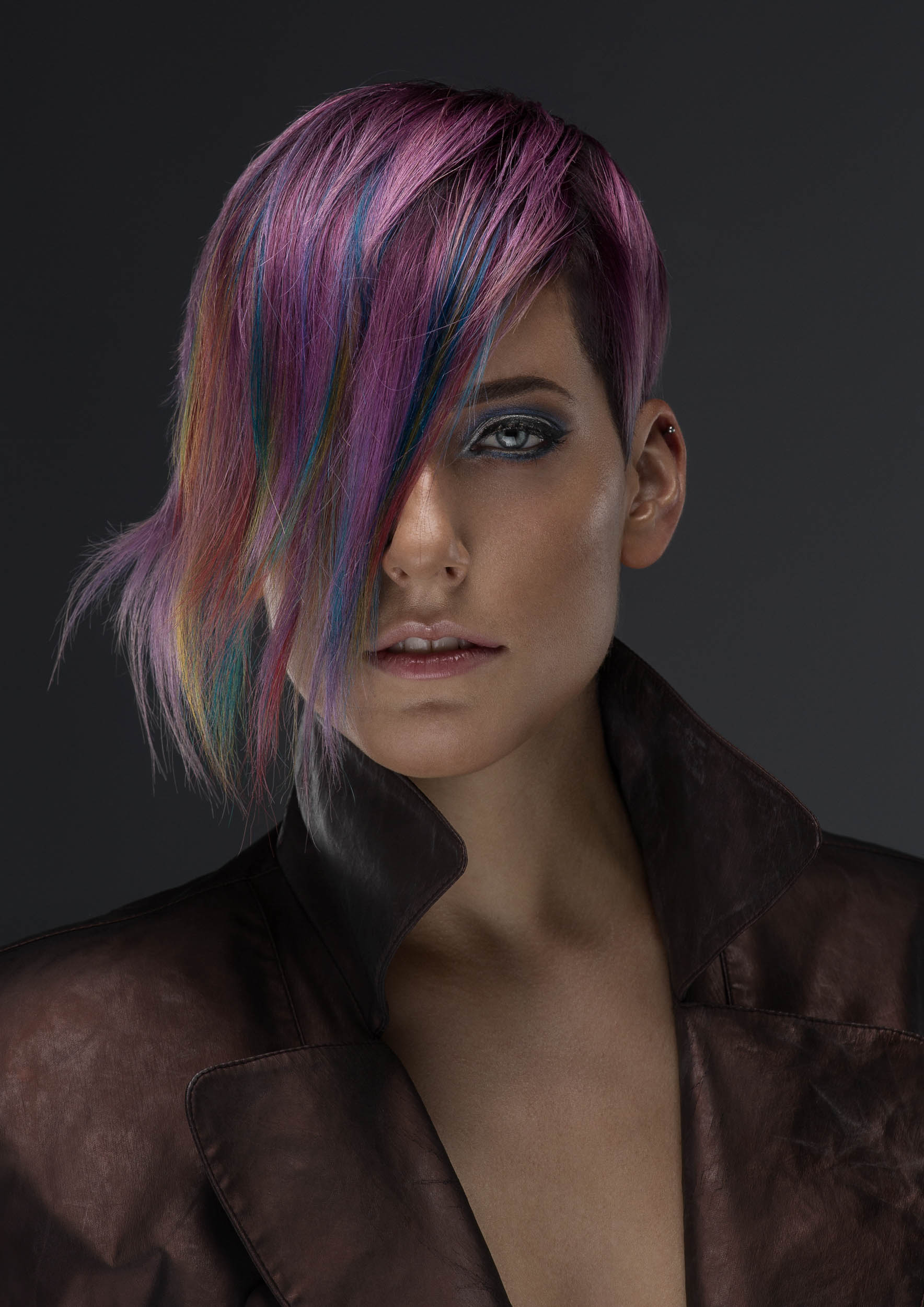 Photo by Nick Walters photographer of model for hair colourist colouring competion2.jpg