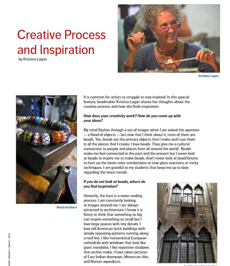 Creative Process and Inspiration by Kristina Logan