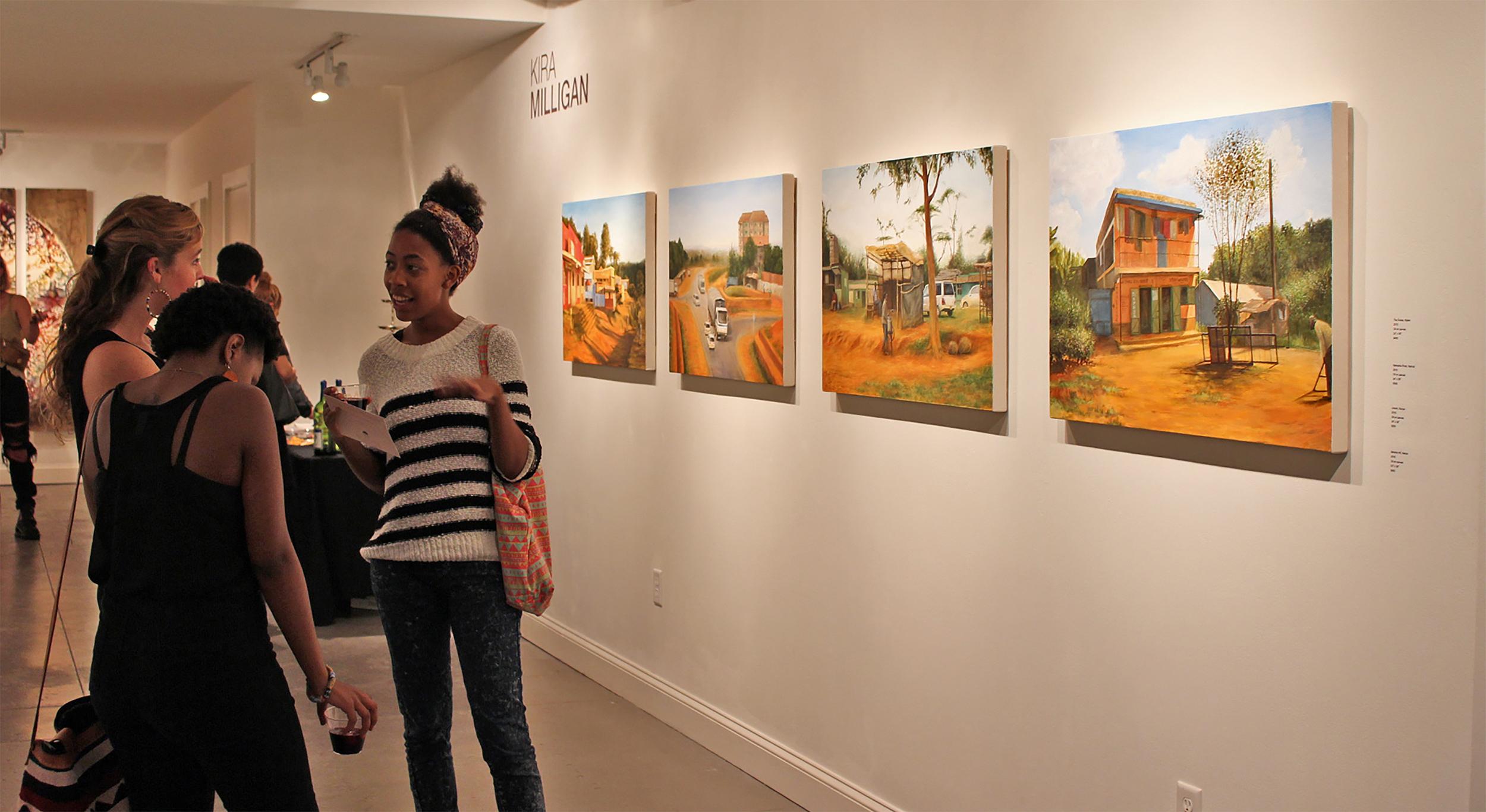 Kira Milligan's series installed at the Oglethorpe Gallery, INHABIT, 2016