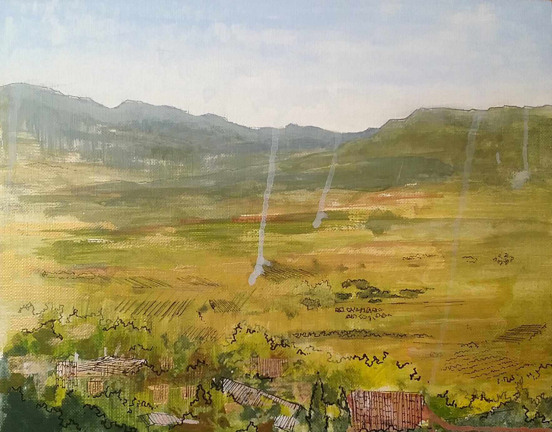 "Lacoste Colour Study II   Acrylic on canvas board  9"" x 12"""