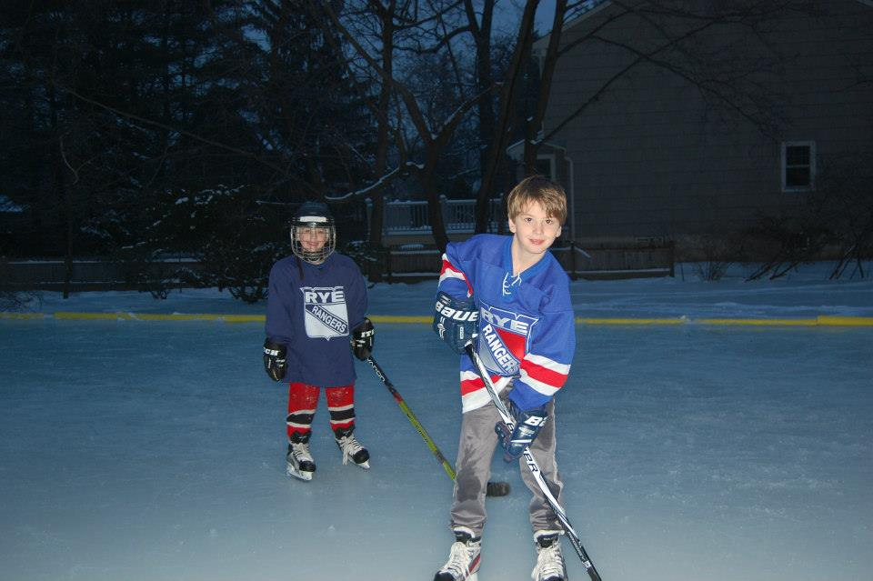 Despite my best efforts, these boys are still happy on the ice.