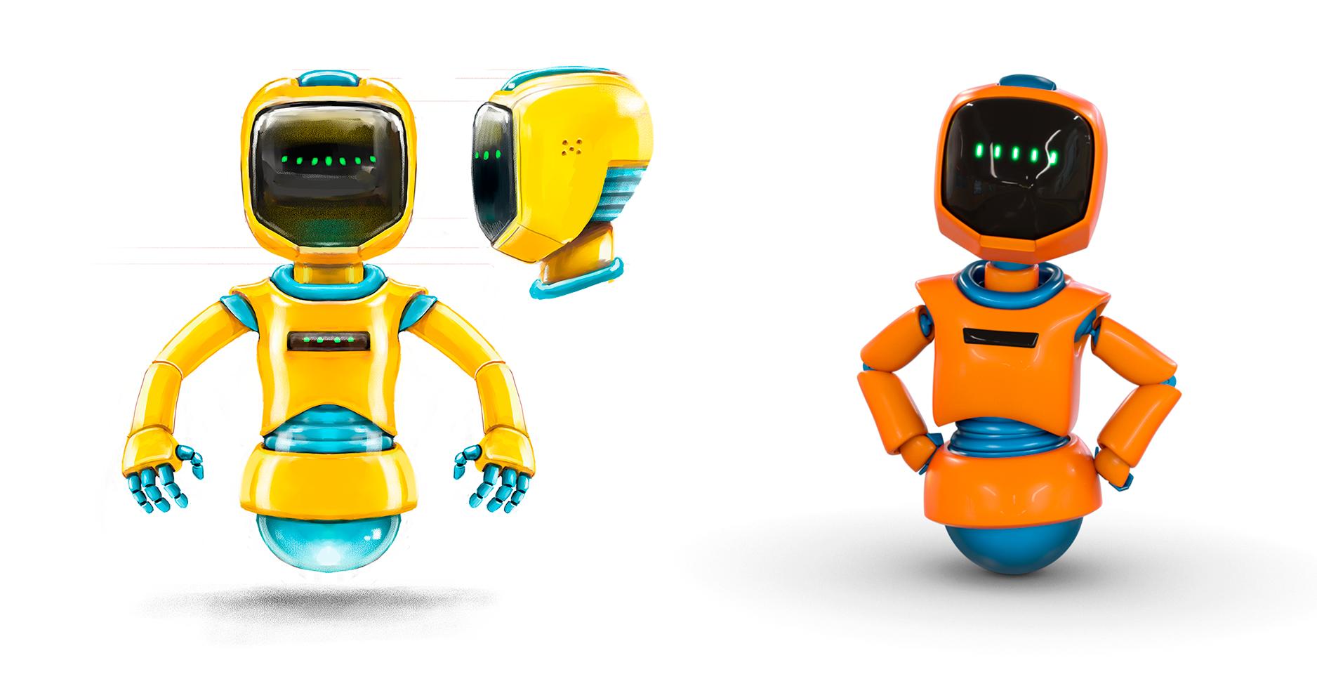Vasemmalla tekemäni konseptikuvitus. Oikealla valmis 3D-versio.
