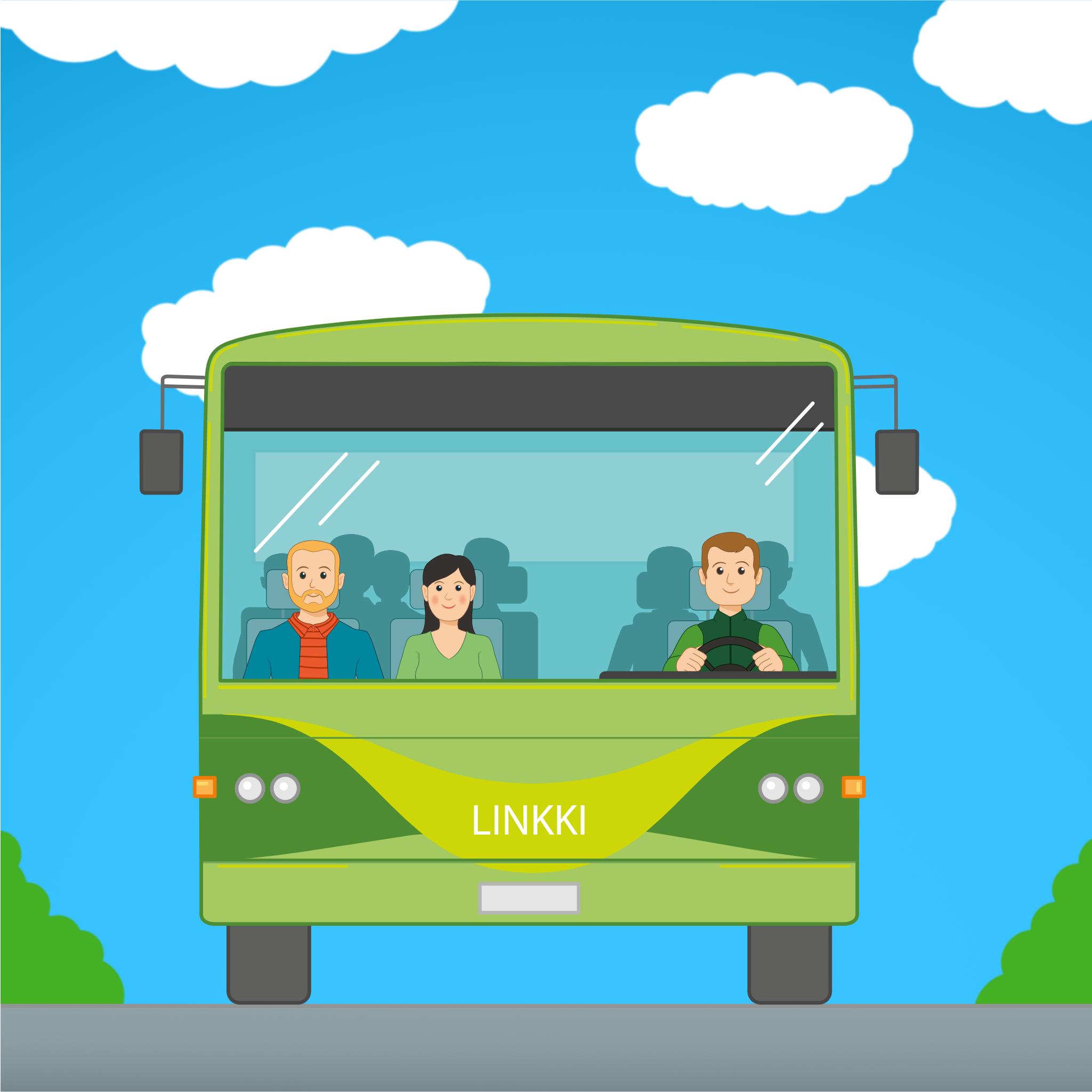 Linkki-bussi -kuvituskuva