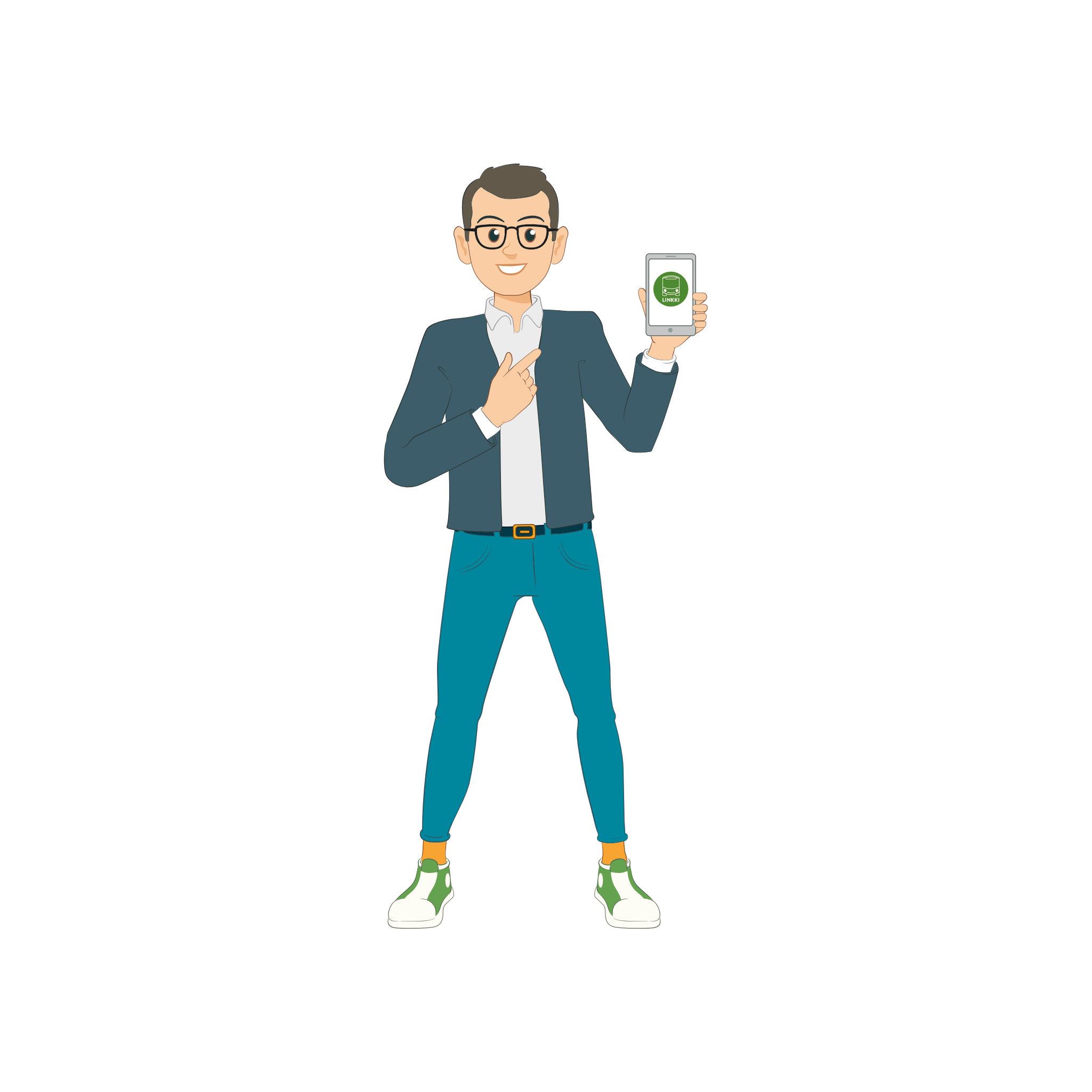 Linkki-matkustajia: Mies ja Linkki-mobiilisovellus