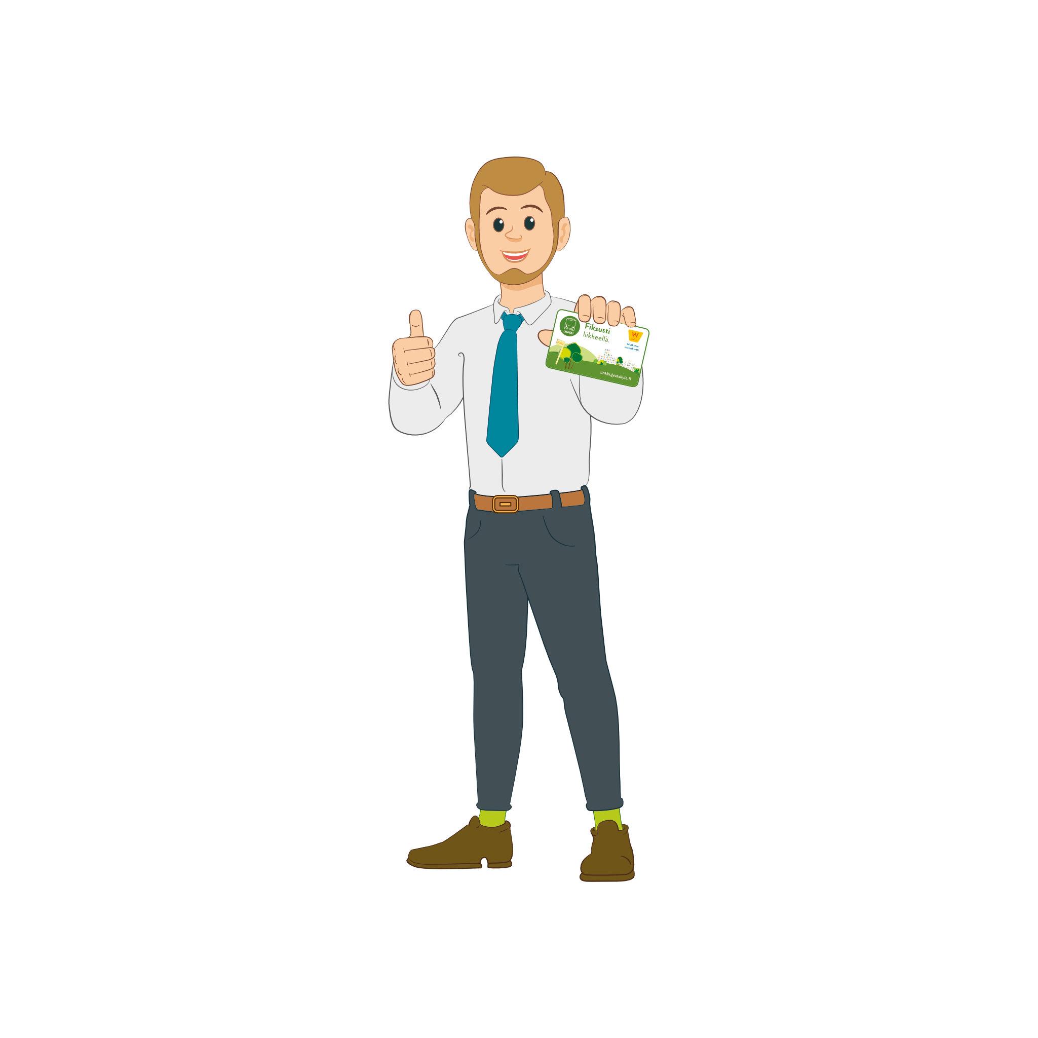 Linkki-matkustajia: Mies ja matkakortti