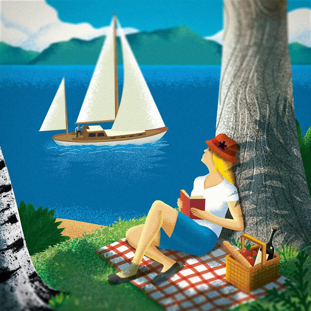 Kuvituskuvassa kesälomakin voi jatkua ikuisesti.