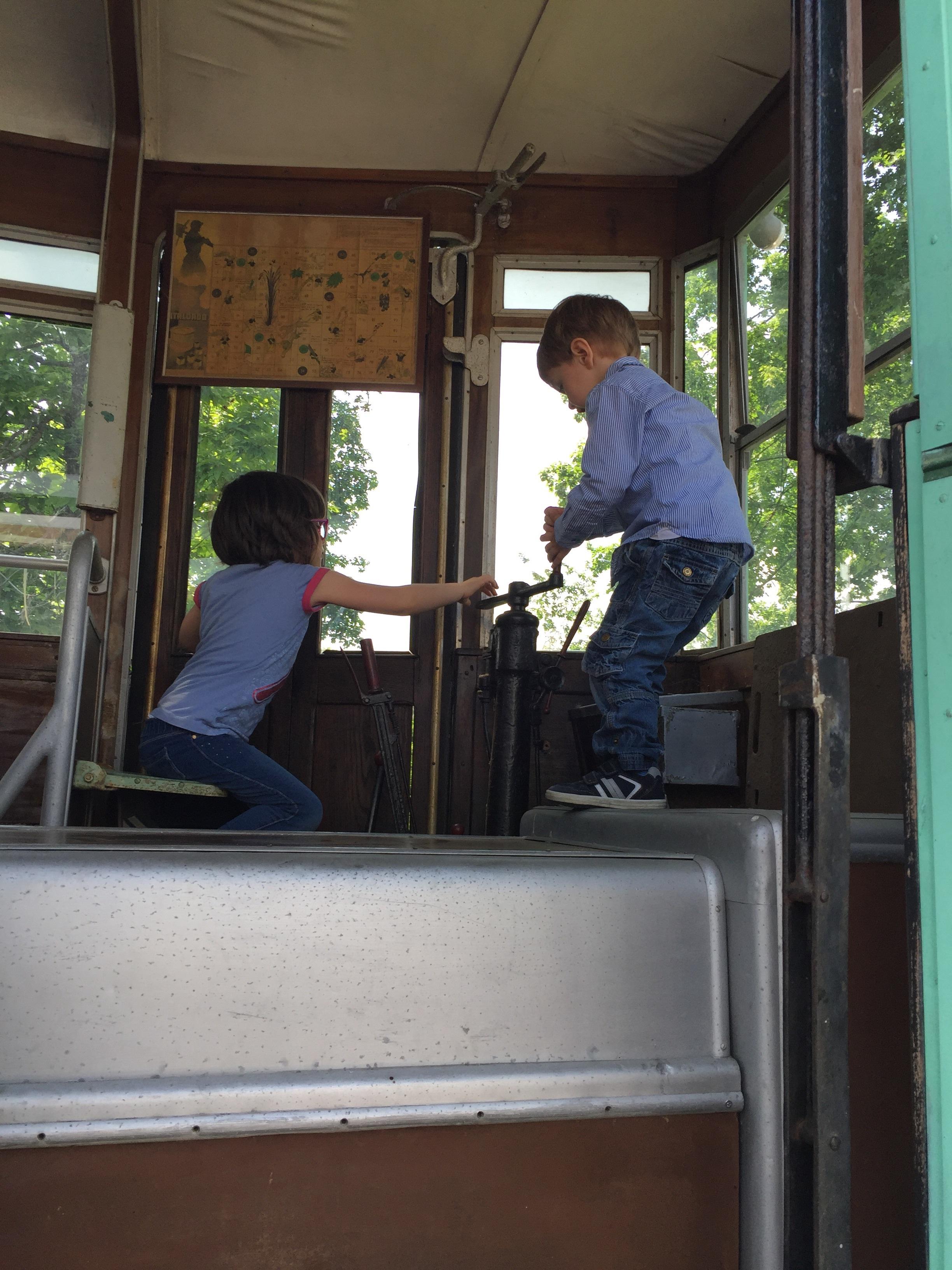 Mini tram drivers...