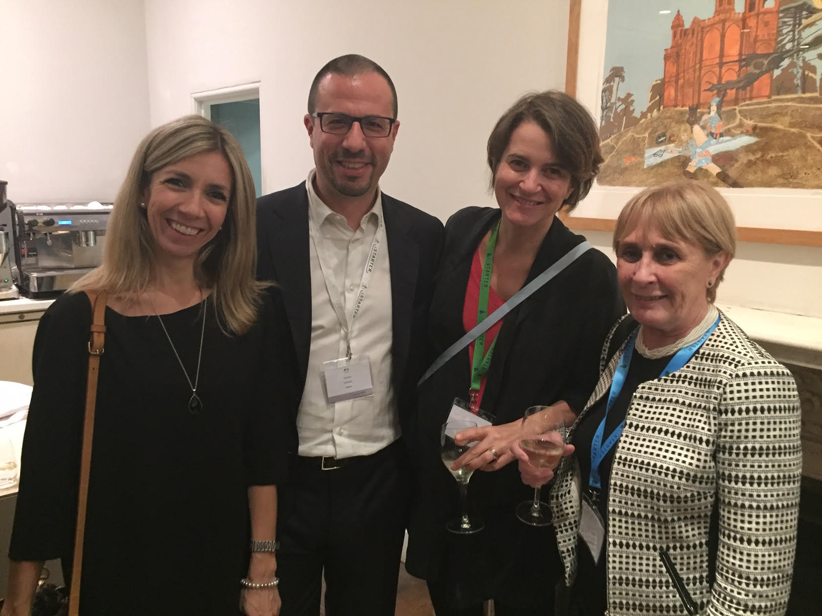 Right to left: Fausta Pavesio, Riccarda Zezza, Antonio Chiarello, Manuela Andaloro attending the annual iStarter event in London