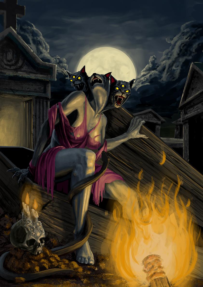 Hellcats EP Illustration