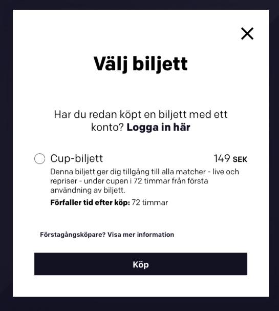 Bohus cup 2019 - biljettköp med Streamify Play