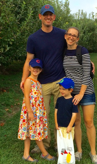 Doulas of Asheville co-owner & doula, Elizabeth Pauley, with her family at Grandad's. (Go Cubs!)