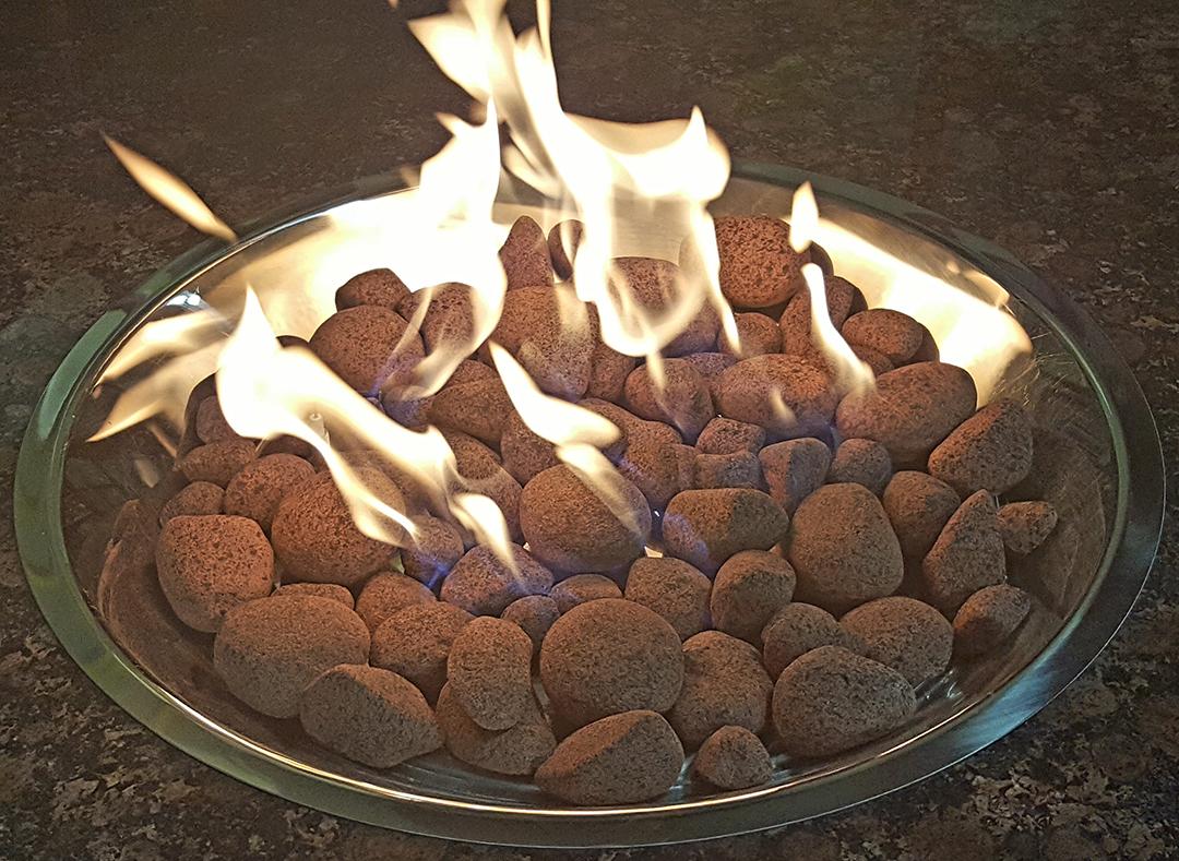 Cozumel mixed stones burning