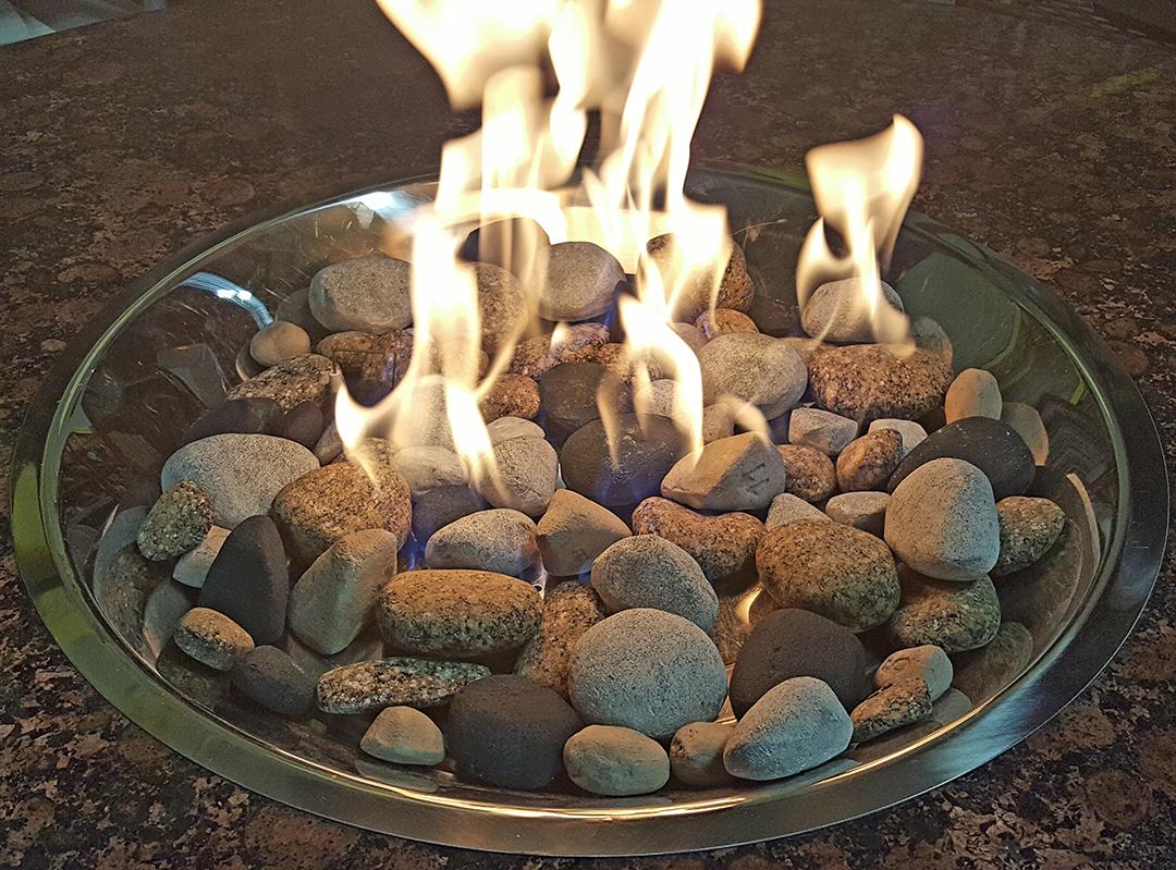 Green bay stones burning