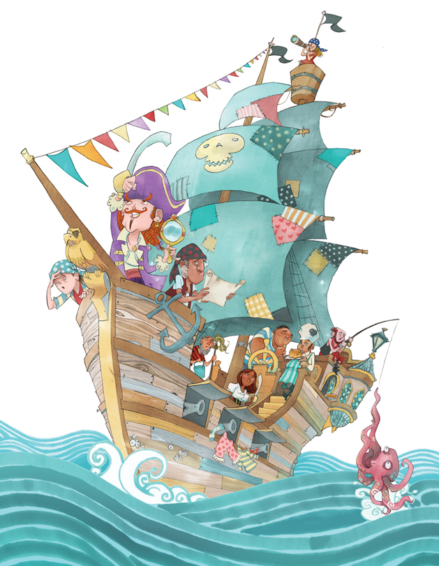 High Seas Adventure, Dylan Gibson Illustration