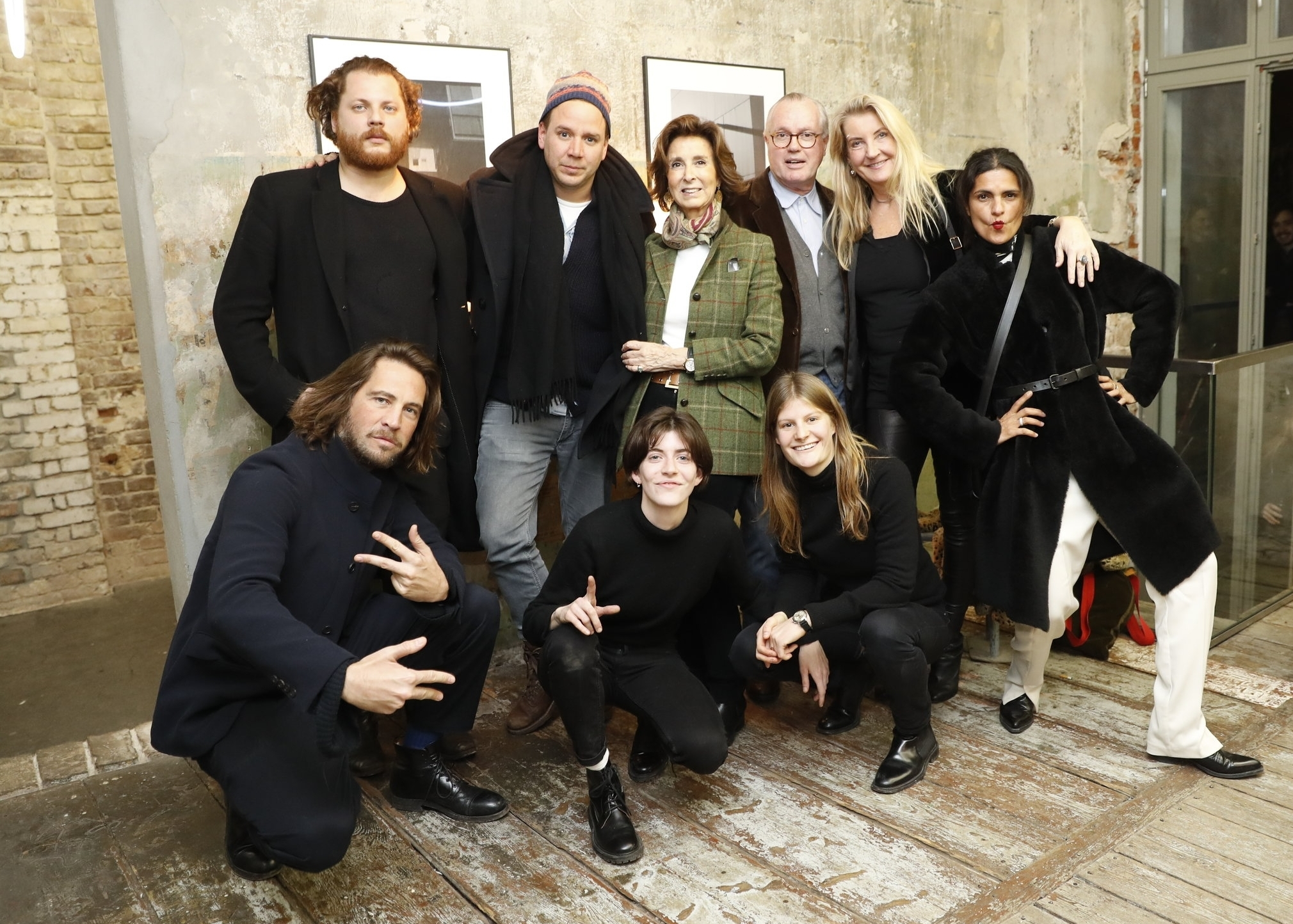 (From top left to right) Andreas Golder +  , Andreas Mühe +  , Esther Von SalisSamaden, Reimer Claussen, Colleen Rosenblat, Leyla Piedayesh +  , Johann Heahling Von Lanzenauer +  , Olivia Walsh and Mical Rosenblat attend Opening of Olivia Walsh ' [ Tectonic Acts ]   Acts of Desire and Doubt  ' at the Seven Star Gallery +,   Berlin. ©Franziska Krug