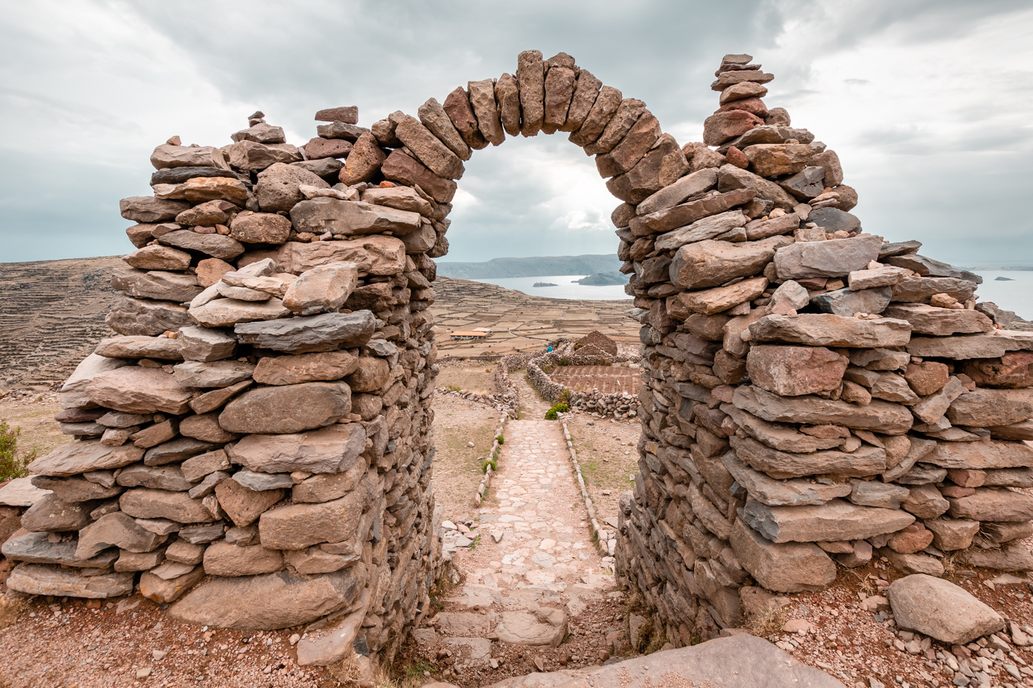 The gate at the ruins of  Pachatata  - Father Earth - over 4100 mt (13,450 feet) on sea level.