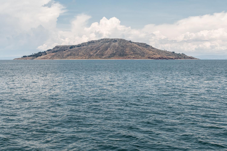 The Amantani island on lake Titicaca, South Peru.