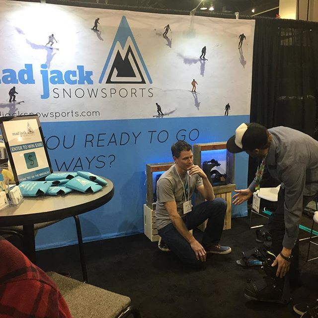 First day at @siasnowsports 2017 is wrapped up! Marketplace is lovin' the MadJacks! #behappyonthehill #madjacksnowsports