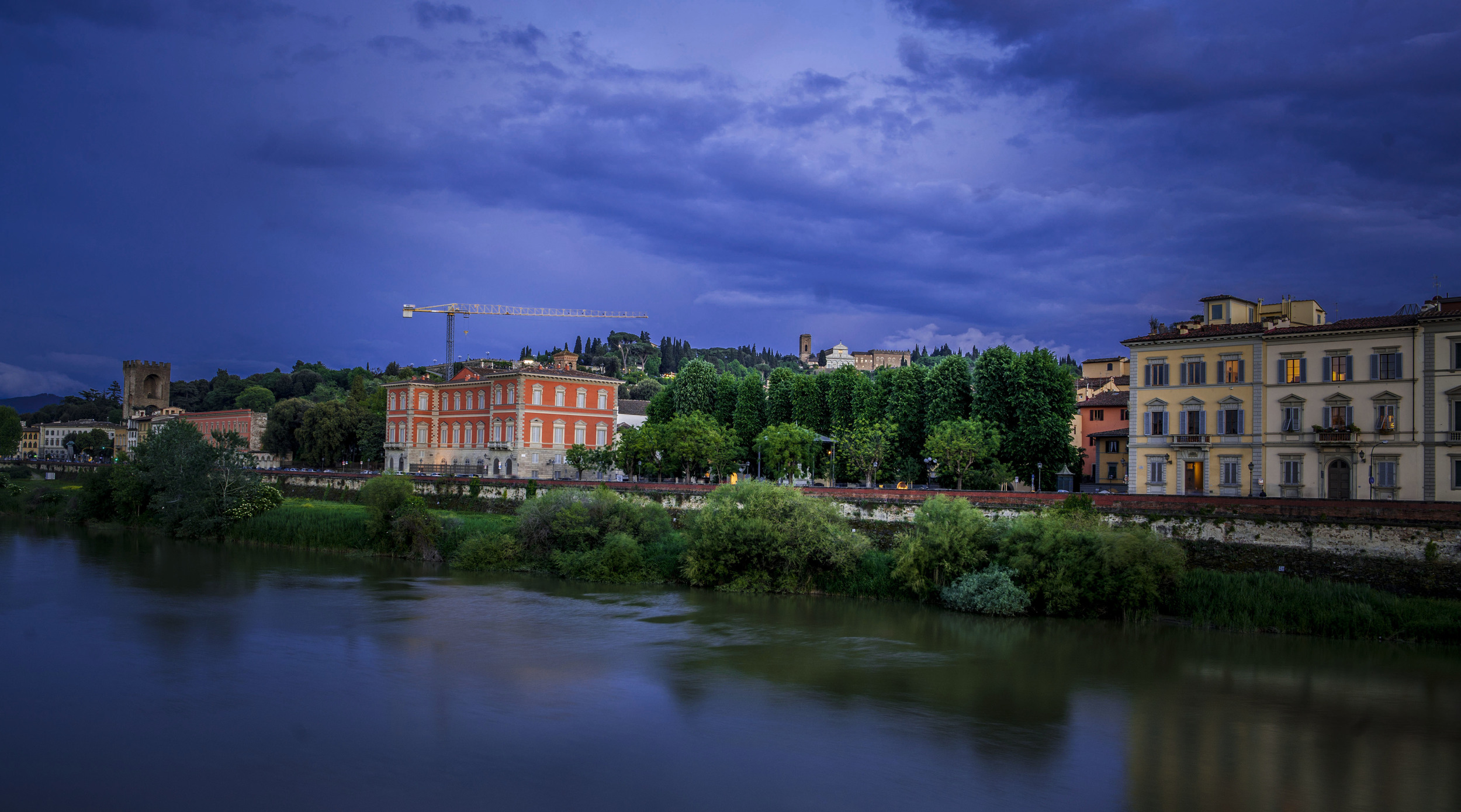 View over river Arno from Ponte alle Grazie, Florence