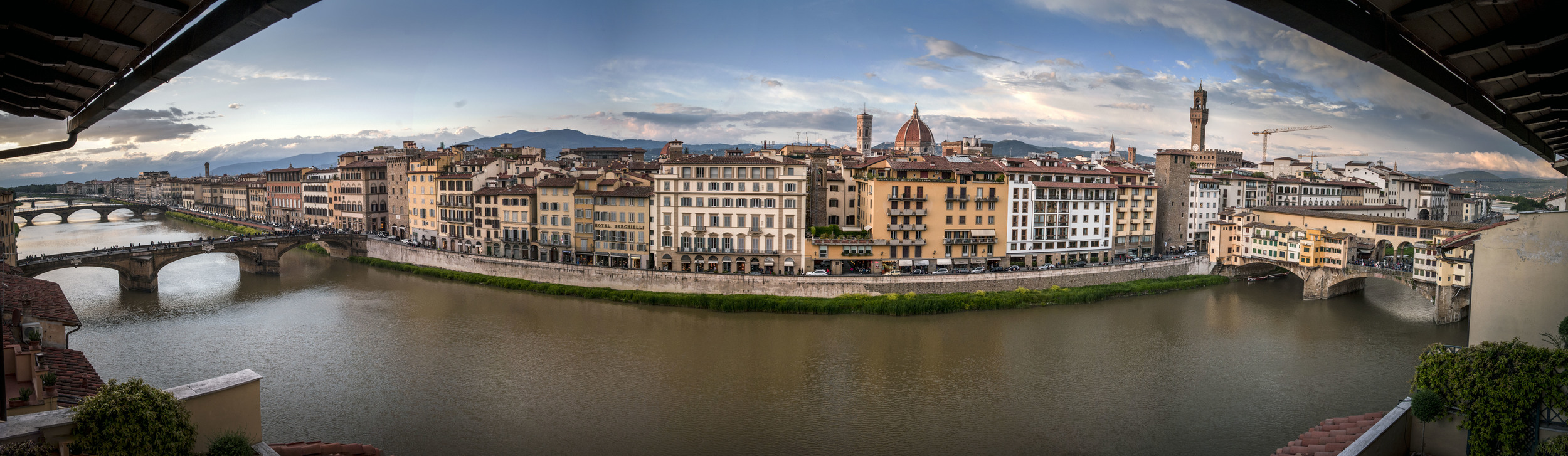 Panorama view from my hotel room, Florence