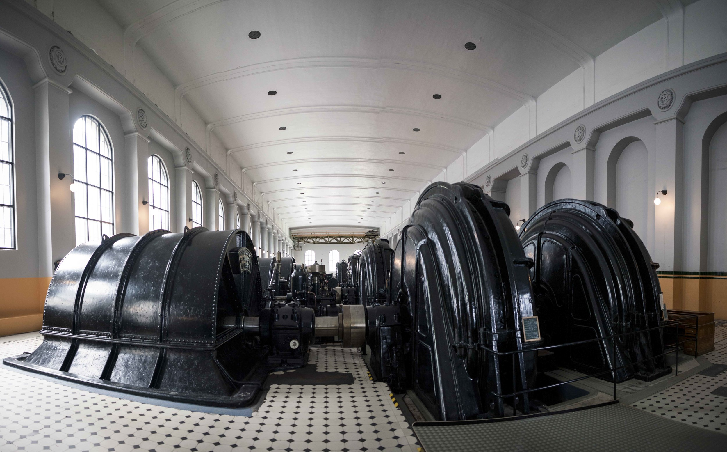 Inside Vemork hydroelectric plant