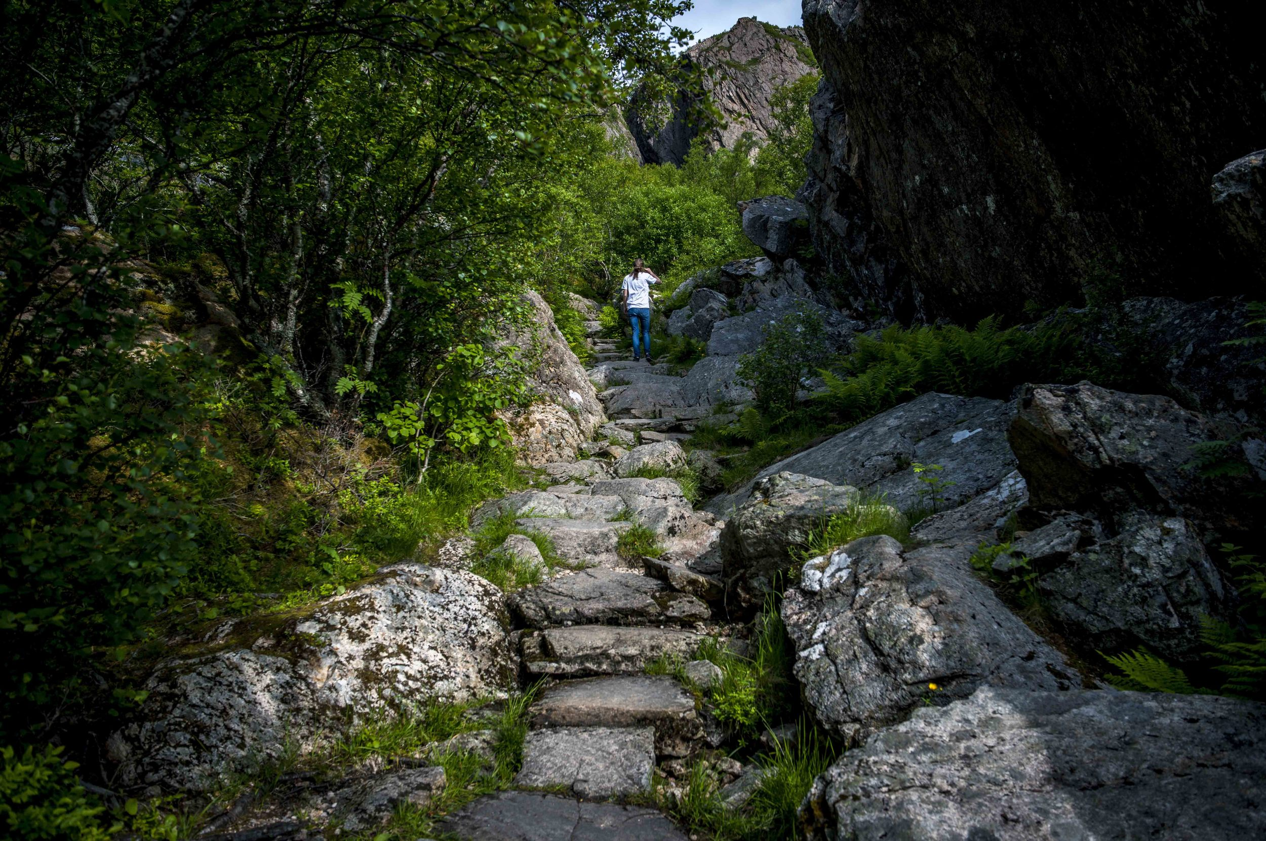 Easy walk up to Torghatten