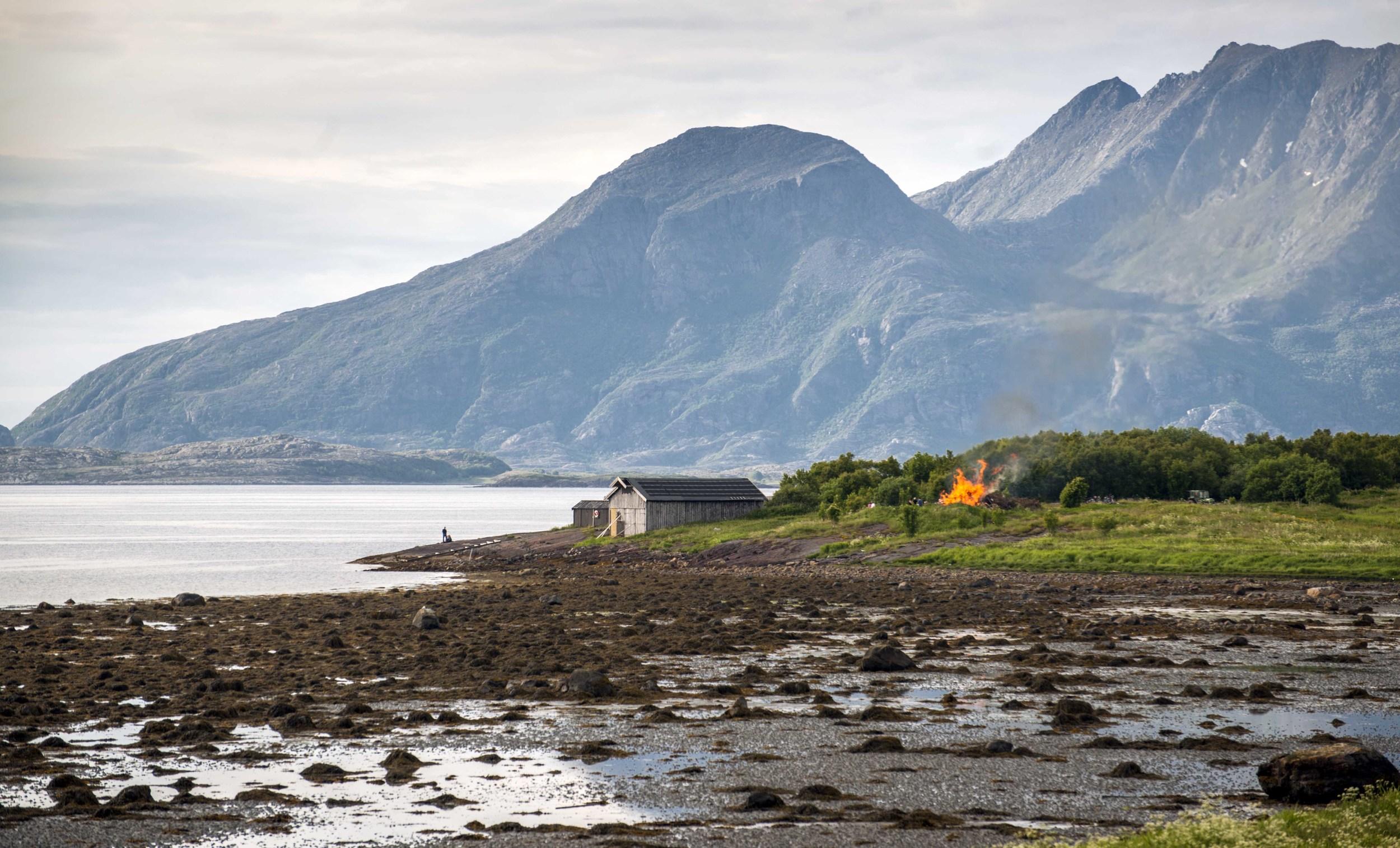 Sankthans bonfire, Sandnessjøen